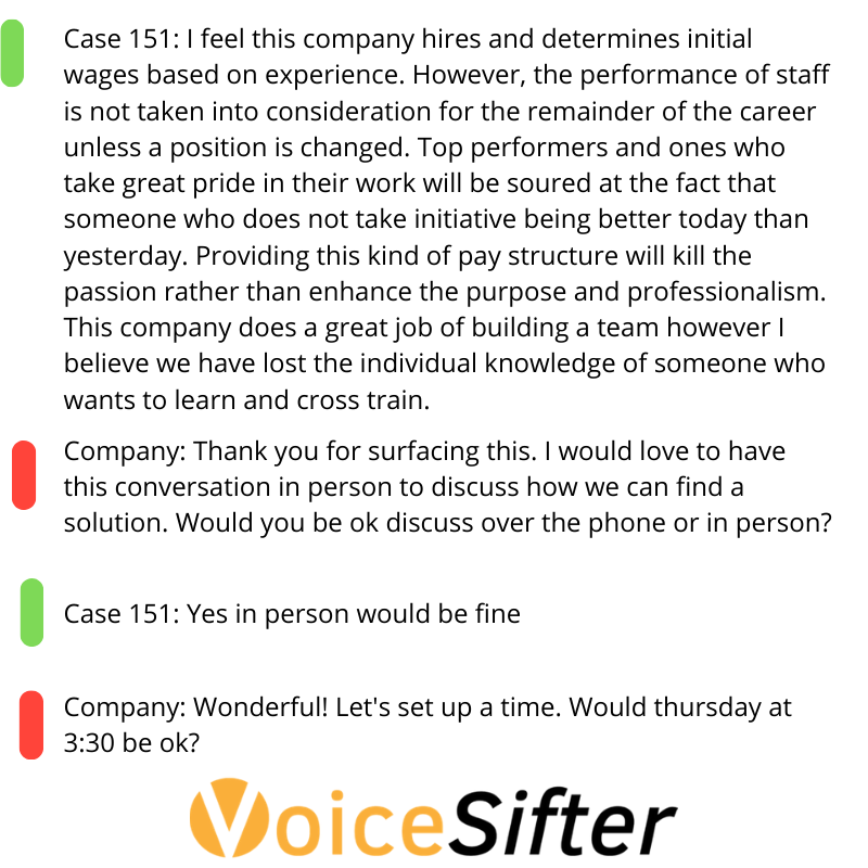 I feel this company hires and determines intial wages based on experience. However, the performance of staff is not taken into consideration for the remainder of the cateer unless a position is changed. This means wh